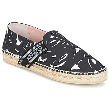Schuhe Damen Leinen-Pantoletten mit gefloch Kenzo KAPRI Schwarz