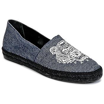 Schuhe Herren Leinen-Pantoletten mit gefloch Kenzo SLIT Blau