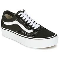 Schuhe Damen Sneaker Low Vans UA OLD SKOOL PLATFOR Schwarz / Weiss