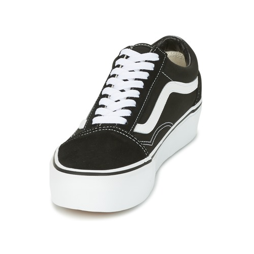 Vans UA OLD SKOOL PLATFOR Schwarz / Weiss Damen  Schuhe Sneaker Low Damen Weiss 67,99 3c2db5