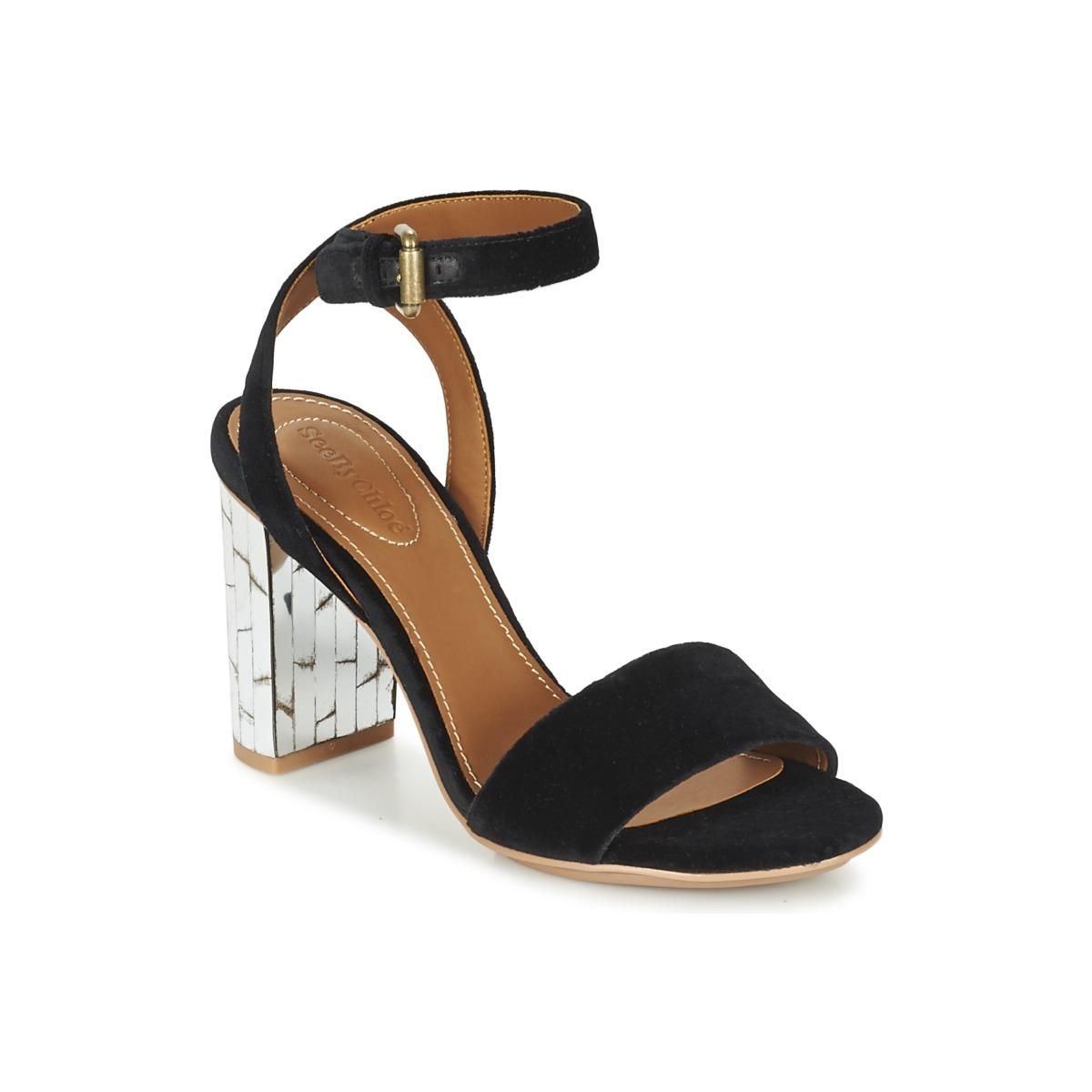 See by Chloé SB28001 Schwarz - Kostenloser Versand bei Spartoode ! - Schuhe Sandalen / Sandaletten Damen 199,50 €