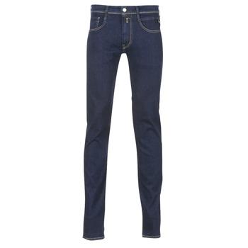 Kleidung Herren Slim Fit Jeans Replay WOUAPO Blau