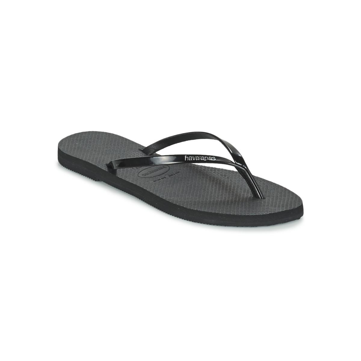 Havaianas YOU METALLIC Schwarz - Kostenloser Versand bei Spartoode ! - Schuhe Zehensandalen Damen 29,99 €