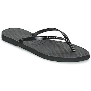Schuhe Damen Zehensandalen Havaianas YOU METALLIC Schwarz