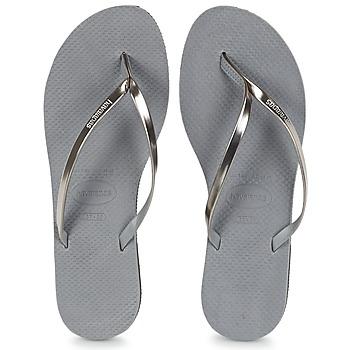 Schuhe Damen Zehensandalen Havaianas YOU METALLIC Grau