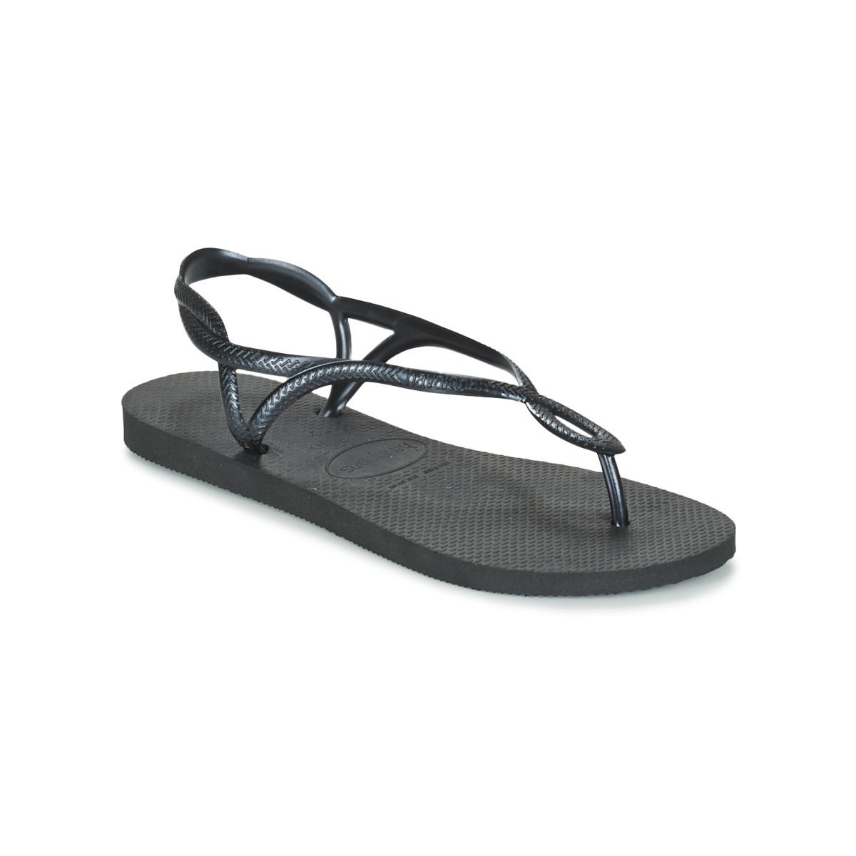 Havaianas LUNA Schwarz - Kostenloser Versand bei Spartoode ! - Schuhe Zehensandalen Damen 23,99 €