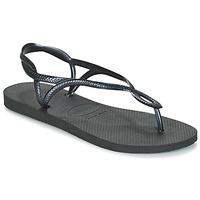 Schuhe Damen Zehensandalen Havaianas LUNA Schwarz