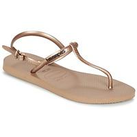 Schuhe Damen Zehensandalen Havaianas FREEDOM Rose / Gold