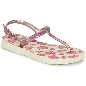 Schuhe Mädchen Zehensandalen Havaianas KIDS FREEDOM PRINT Beige / Rose