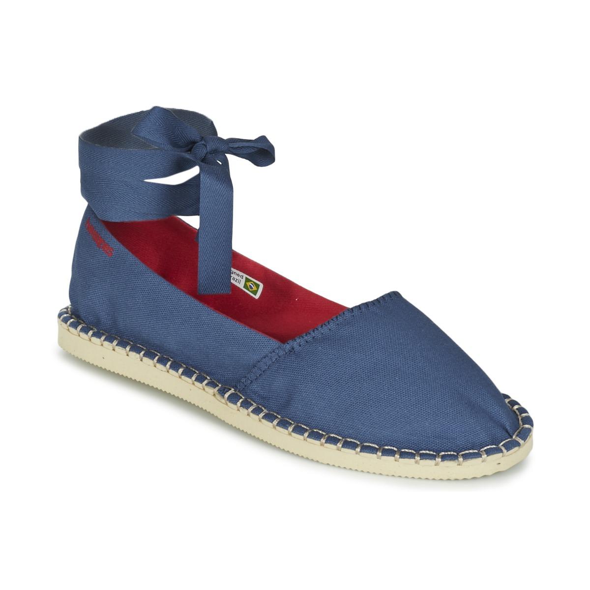 Havaianas ORIGINE SLIM Blau - Kostenloser Versand bei Spartoode ! - Schuhe Leinen-Pantoletten mit gefloch Damen 32,39 €
