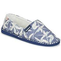 Schuhe Leinen-Pantoletten mit gefloch Havaianas ORIGINE ORQUIDEAS Marine / Weiss