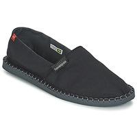 Schuhe Leinen-Pantoletten mit gefloch Havaianas ORIGINE III Schwarz