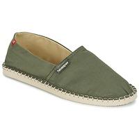 Schuhe Leinen-Pantoletten mit gefloch Havaianas ORIGINE III Grün