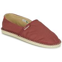 Schuhe Leinen-Pantoletten mit gefloch Havaianas ORIGINE III Rot