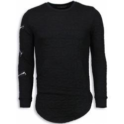 Kleidung Herren Sweatshirts Justing D Numbered Pocket Long Schwarz