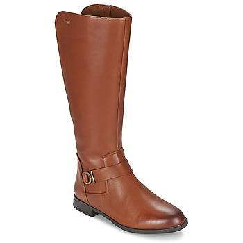 Schuhe Damen Klassische Stiefel Clarks MINT TREAT GTX Braun