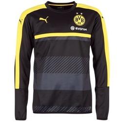 Kleidung Herren Sweatshirts Puma BVB TRAINING SWEAT Schwarz / Gelb