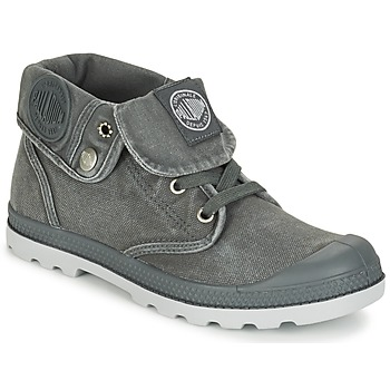 Schuhe Damen Boots Palladium BAGGY LOW LP F Grau
