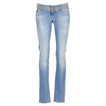 Kleidung Damen Straight Leg Jeans Le Temps des Cerises 220 Blau