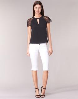 Kleidung Damen 3/4 Hosen & 7/8 Hosen Le Temps des Cerises NINA Weiss