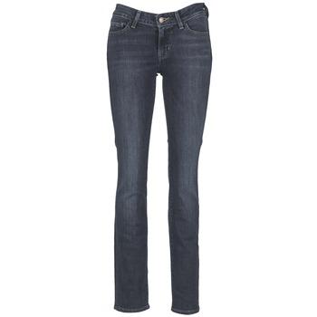 Kleidung Damen Straight Leg Jeans Levi's 714 STRAIGHT Petrolblau  / Coast / Color moka / Frisbee moka