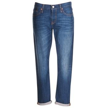 Kleidung Damen Boyfriend Jeans Levi's 501 CT Blau