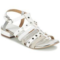 Schuhe Damen Sandalen / Sandaletten Café Noir CAFOUT Weiss / Silbern
