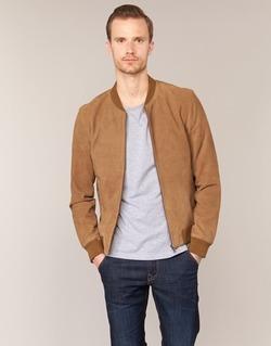 Kleidung Herren Lederjacken / Kunstlederjacken Selected MARK Camel