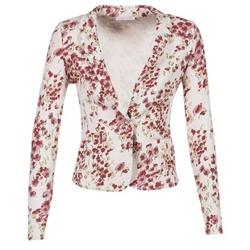 Kleidung Damen Jacken / Blazers Les P'tites Bombes OSIDOULE Weiss / Rot