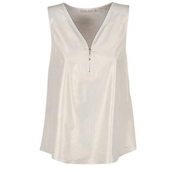 Kleidung Damen Tops / Blusen Les P'tites Bombes LOUVALE Weiss / Gold