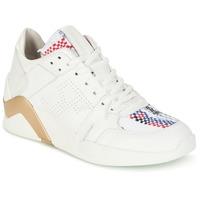 Schuhe Damen Sneaker High Serafini CHICAGO Weiss / Gold