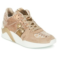 Schuhe Damen Sneaker High Serafini CHICAGO Beige / Gold