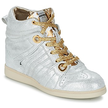 Schuhe Damen Sneaker High Serafini MANHATTAN Silbern / Gold