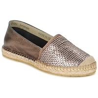 Schuhe Damen Leinen-Pantoletten mit gefloch Betty London GERAMO Bronze