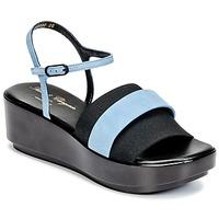 Schuhe Damen Sandalen / Sandaletten Robert Clergerie PODDY Schwarz / Blau