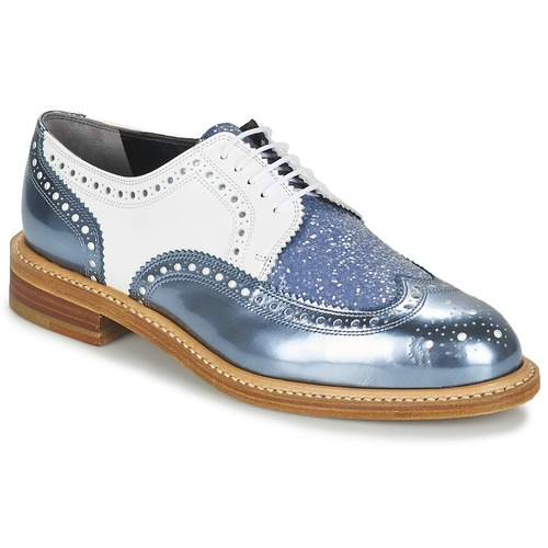 Robert Clergerie ROELTM Blau / Weiss Schuhe Derby-Schuhe Damen 262,50