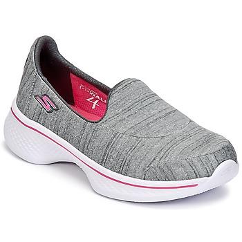 Schuhe Mädchen Slip on Skechers GO WALK 4 Grau
