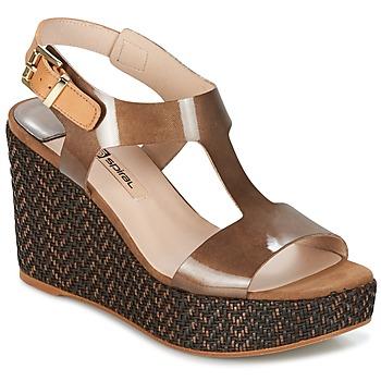 Schuhe Damen Sandalen / Sandaletten Spiral PAULA Braun