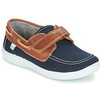 Schuhe Jungen Bootsschuhe Citrouille et Compagnie GASCATO Marine / Braun