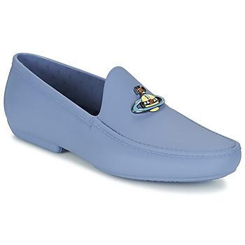 Schuhe Herren Slipper Vivienne Westwood ENAMELLED ORB MOC Blau