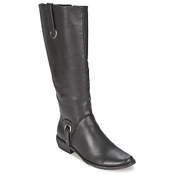 Schuhe Damen Klassische Stiefel Les P'tites Bombes ADAGIO Schwarz