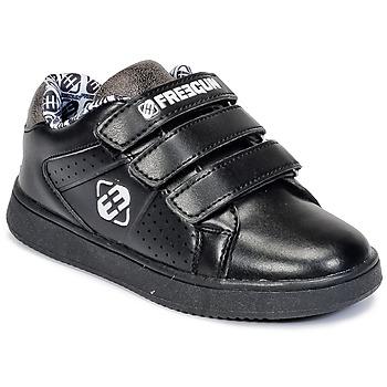 Schuhe Kinder Sneaker Low Freegun FG ULSPORT Schwarz / Weiss