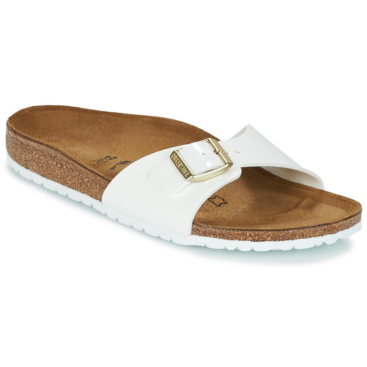 Birkenstock MADRID Weiss / Gold - Kostenloser Versand bei Spartoode ! - Schuhe Pantoffel Damen 47,99 €
