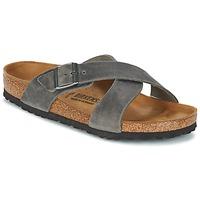 Schuhe Herren Pantoffel Birkenstock TUNIS Grau