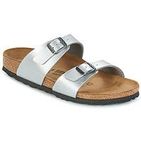 Schuhe Damen Pantoffel Birkenstock SYDNEY Silbern