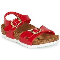 Schuhe Kinder Sandalen / Sandaletten Birkenstock RIO Rot