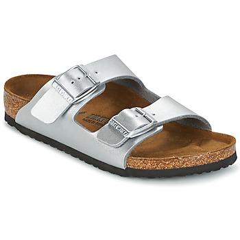 Schuhe Kinder Pantoffel Birkenstock ARIZONA Silbern