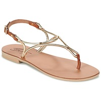 Schuhe Damen Sandalen / Sandaletten Betty London GARDO Gold / Camel
