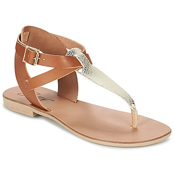 Schuhe Damen Sandalen / Sandaletten Betty London VITAMO Camel / Gold