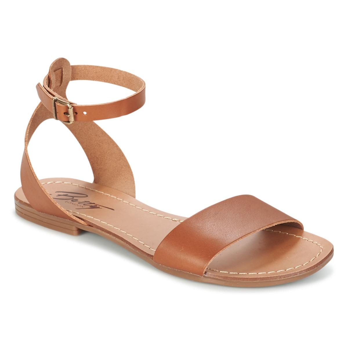 Betty London GIMY Camel - Kostenloser Versand bei Spartoode ! - Schuhe Sandalen / Sandaletten Damen 33,99 €